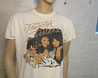 Size Women's XL (42) ** 1986 Pointer Sisters Concert Shirt (Double Sided) **