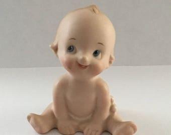Lovely vintage, porcelain baby, sitting 1960s