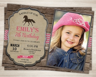 Cowgirl invitation etsy cowgirl birthday invitation rustic cowgirl birthday invite cowgirl party invite pink cowgirl invitation filmwisefo Images