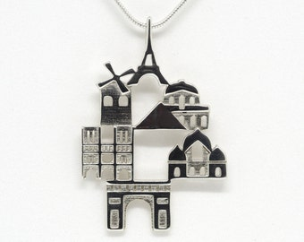 Paris Necklace - Statement Pendant - Love Gift for Her - Birthday Gift - Ola Shekhtman