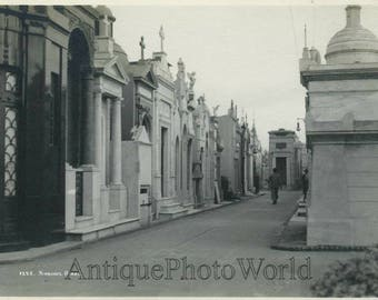 Buenos Aires cemetery antique photo Argentina