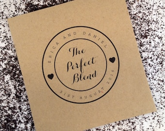 10x Personalised Tea Wedding Favour Envelopes with Tea bag