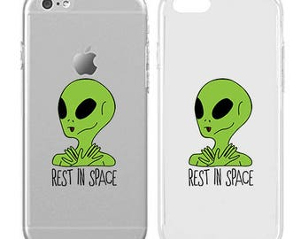 Alien - Rest in space - Quotes - Sassy quotw - Pattern - Aliens - Cute - Fun - Funny - Teenager gift|ARI-465-SLIM-PERFCASE