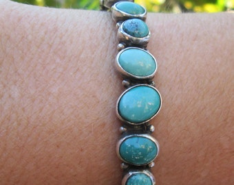 Nakai Turquoise and Sterling Silver Cuff Bracelet