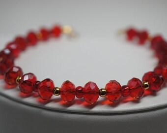ruby red bracelet
