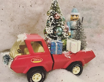 Pink Vintage Tonka Christmas Truck