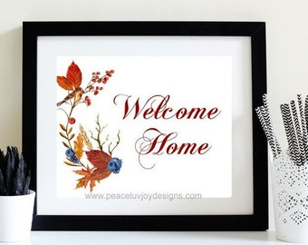 PRINTABLE Welcome Home Instant Download Wedding Gift  Wall Decoration  Printable Decor Welcome Signage  Welcome Home Sign House Warming Gift