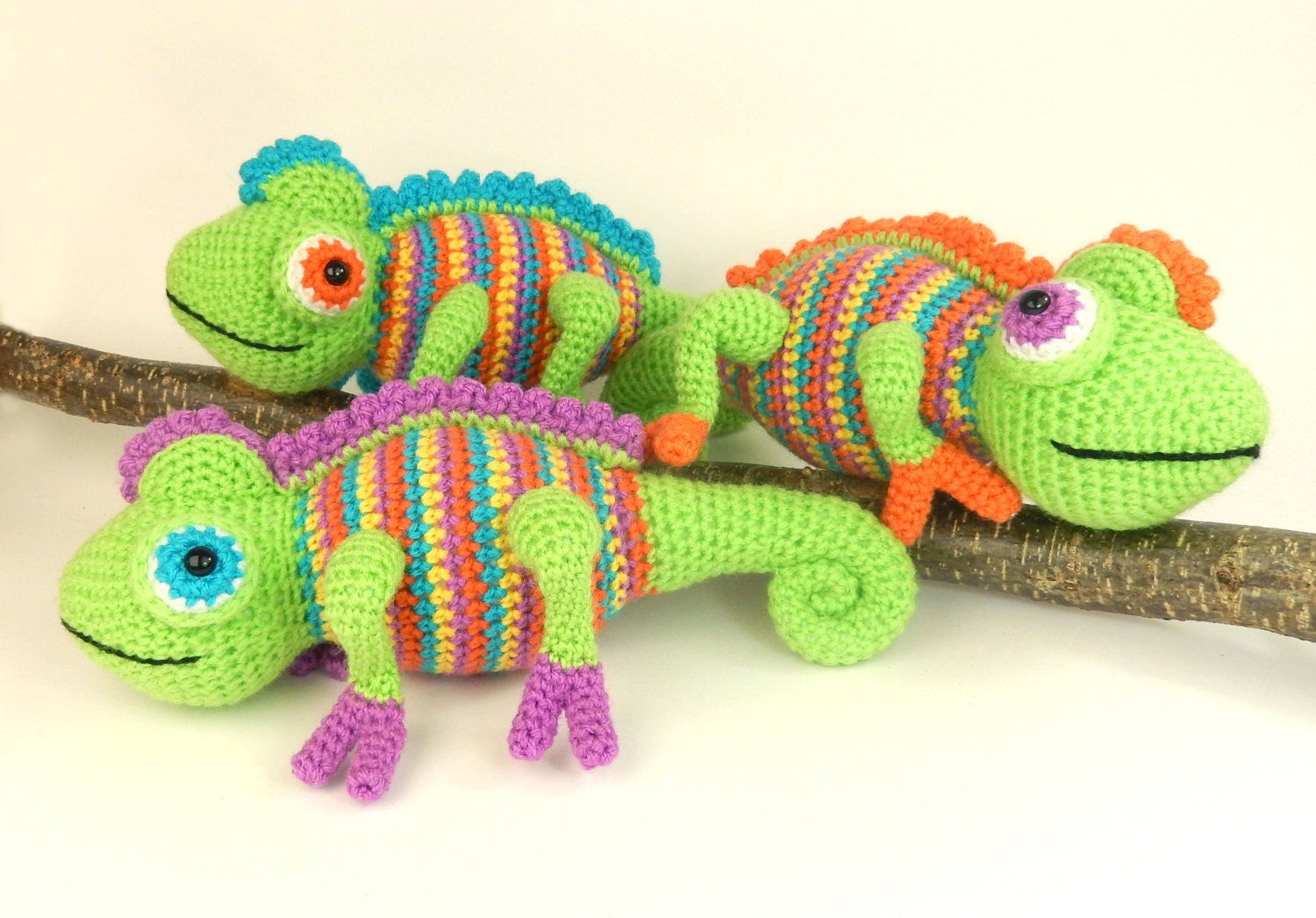 Camelia the Chameleon - Amigurumi Crochet Pattern from ...