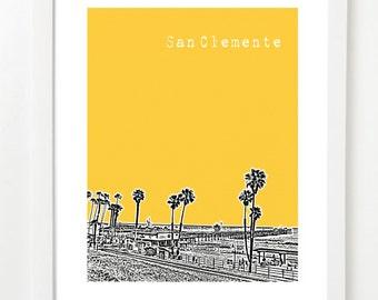 San Clemente Poster - San Clemente California - San Clemente Pier Art Print