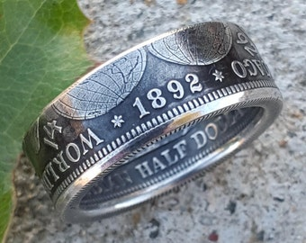 Columbian Exposition Silver Coin Ring