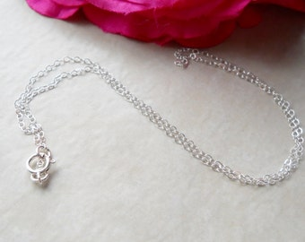 Charm Necklace Create Your Own Flat Cable Sterling Silver N055