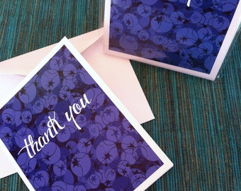 Sweet Blueberries Thank You Card Set Four Pack