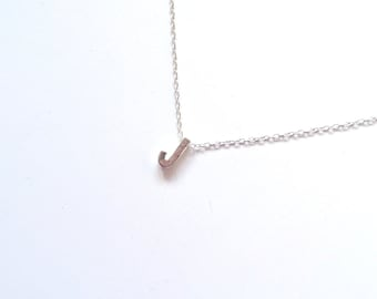 """Letter """"J"""" Personalized Initial Necklace, Monogram Necklace, Silver Necklace, Bridesmaid Gift, Gifts for Her, Letter Necklace"""