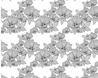 Overall Flowers - Ceramic Decals- Enamel Decal - Fusible Decal - Glass Fusing Decal ~ Waterslide Decal - 78280