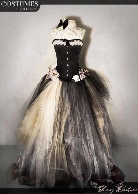 VICTORIAN WEDDING DRESS-long prom gown-wedding gowns-plus size