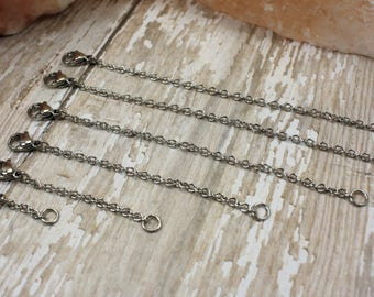 Stainless Steel Chain- Stainless Steel Chain Extender- 2.5mm Stainless Steel Chain- Necklace Chain- Stainless Steel Necklace Chain Extender