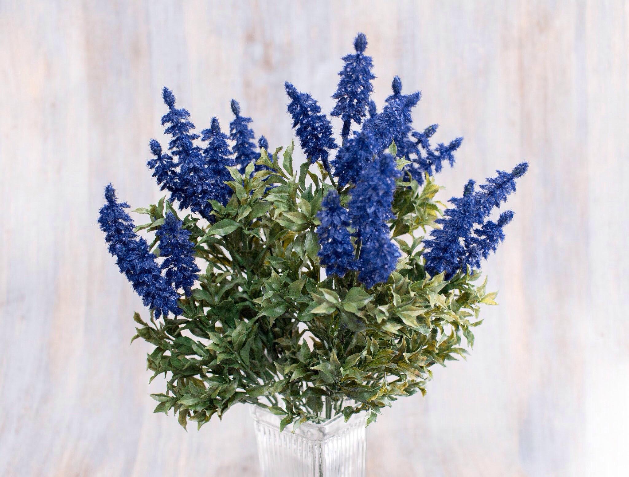 23612 Pcs 20 Blue Wild Stock Wild Flower Bush Artificial
