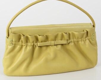 1960s Vintage yellow purse