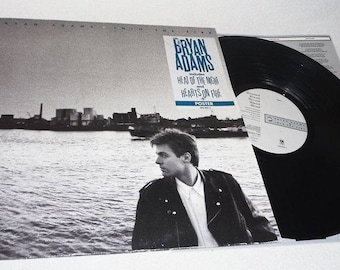 Bryan Adams-into the fire-& poster-Am 3939071-Vinyl Record-LP