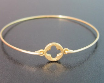 Architecture Jewelry, Renaissance Jewelry, Clover Bracelet, Clover Jewelry, Clover Bangle, Renaissance Bracelet, Architecture Bracelet