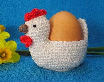 Chicken Egg Holder Cosy Easter Spring Amigurumi PDF Crochet Pattern