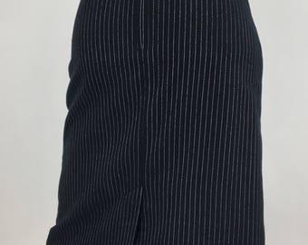 Vintage Parascope pencil skirt/small vintage pencil skirt/pin striped pencil skirt