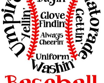 ZIP FILE Baseball Mom Concession Stand Umpire Yellin