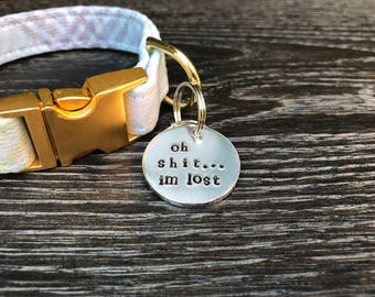 Unique Cat Tag - Cat ID Tag - Pet Accessories - Personalized Cat Tag - Hand Stamped Pet Tag - Cat Tag - Custom Cat Tag