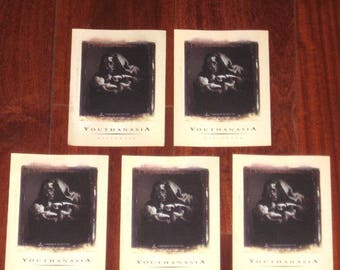 Megadeth Lot of 5 Rare Youthanasia Halloween 1994 US Promotional Only Stickers