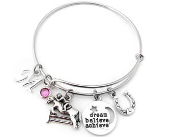 Equestrian Gifts, Equestrian Bracelet, Horse Bracelet, Horse Gifts, Horse Gifts for Girls, Equestrian Jewelry, Horse Jumping Bracelet