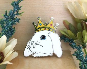 Crowned Rabbit Enamel Pin