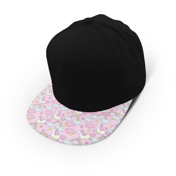 Unicorn rainbow clouds snapback cap - hat - baseball cap 5P006