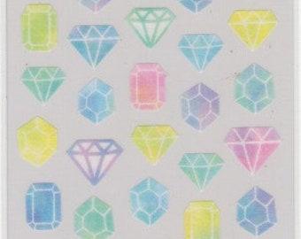 Gemstone Stickers - Diamond Stickers - Masking Tape Sticker - Mind Wave - Reference L6757