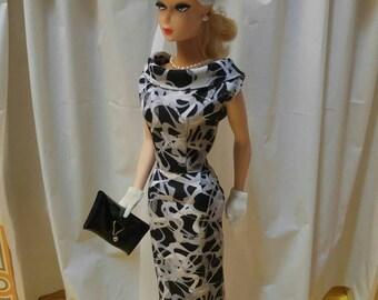 Black and White Sheath dress w/ hat