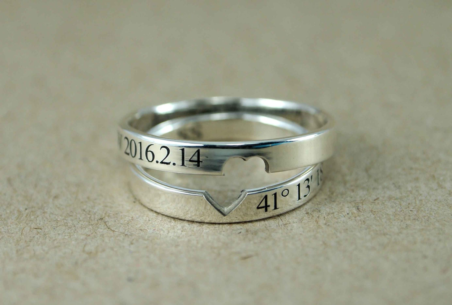 Personalized Spinner Rings For Couples