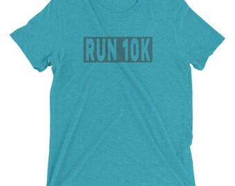 Men's Run 10K TriBlend T-Shirts - 10K Runner - Men's Short Sleeve Running Shirt