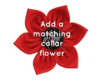 Red Dog Collar Flower, Pink Dog Collar Flower, Martingale Collar Flower, Yellow Flower Dog Collar, Red Fabric Flower, Large Collar Flower