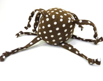 Soft Baby Toy - ZadyMini - Brown with white dots