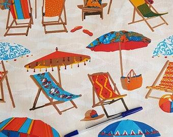 "Laminated cotton fabric ""Seaside"""