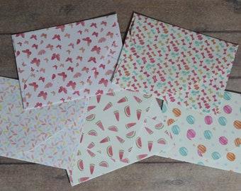 Mini Envelopes Handmade 6.5cm x 5cm