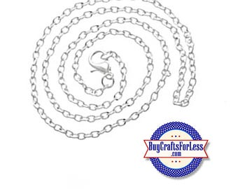 "Link CHAIN,  Silver Plated, 18"" +FREE SHiPPiNG & Discounts*"
