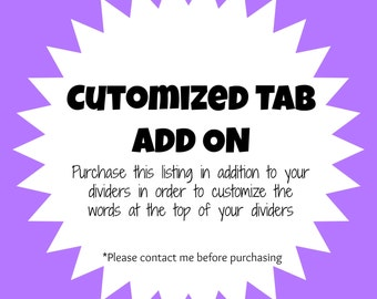 Custom Tab Wording Add On