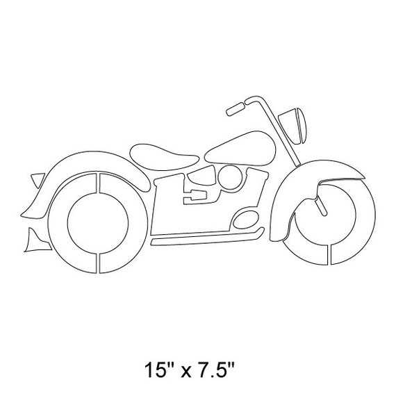 on sale motorcycle stencil for painting kids or baby room mural sku233 istencil - Kids Painting Templates