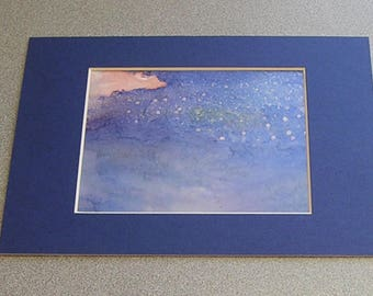 "Alcohol Ink  Abstract Painting Original ""Starry Night"""