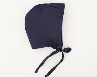 Navy Blue Bonnet