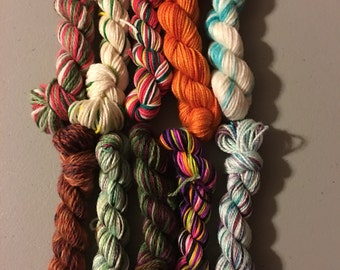 40yd (10g) Fingering Weight Yarn Mini Skein Grab Bag