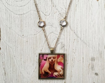 Lady Gaga Pendant Necklace Album Cover Art Jewelry Music Related Jewelry Rocker Chic Gift for Gaga Fans