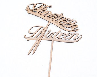 Calligraphy Script Wood Table Numbers or Cake Toppers- All Numbers Available