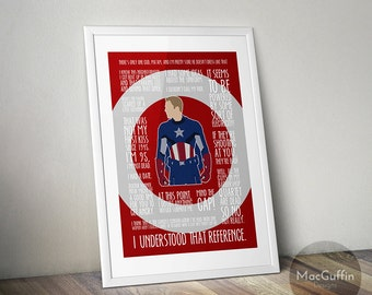 Avengers poster  - Choose from 8 characters (Made to order)