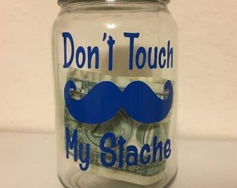 Mason Jar Money Piggy Bank Mustache